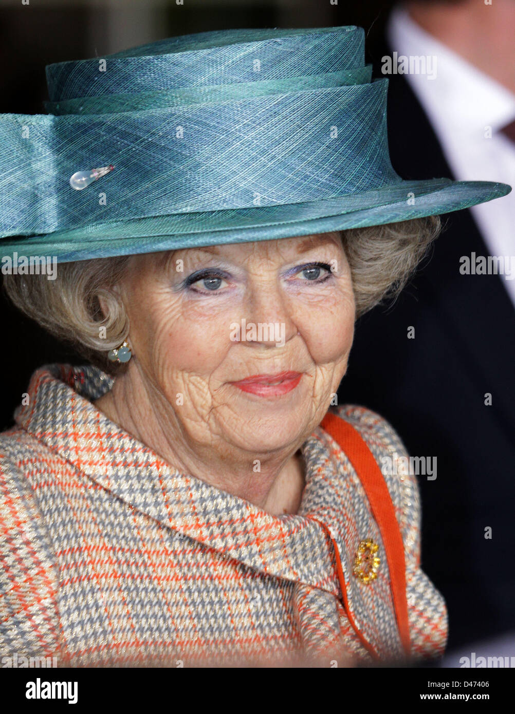 Dutch Queen Beatrix attends the last day of the The Hague Global Child Labour Conference in The Hague, Netherlands, - Stock Image