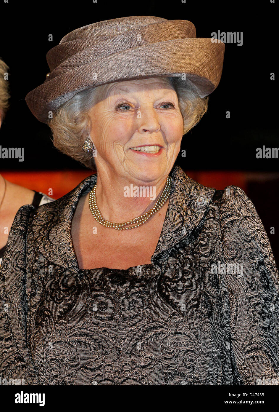 Queen Beatrix of The Netherlands attend the jubilee celebration of the Rheuma Foundation in the Hall of Knights - Stock Image