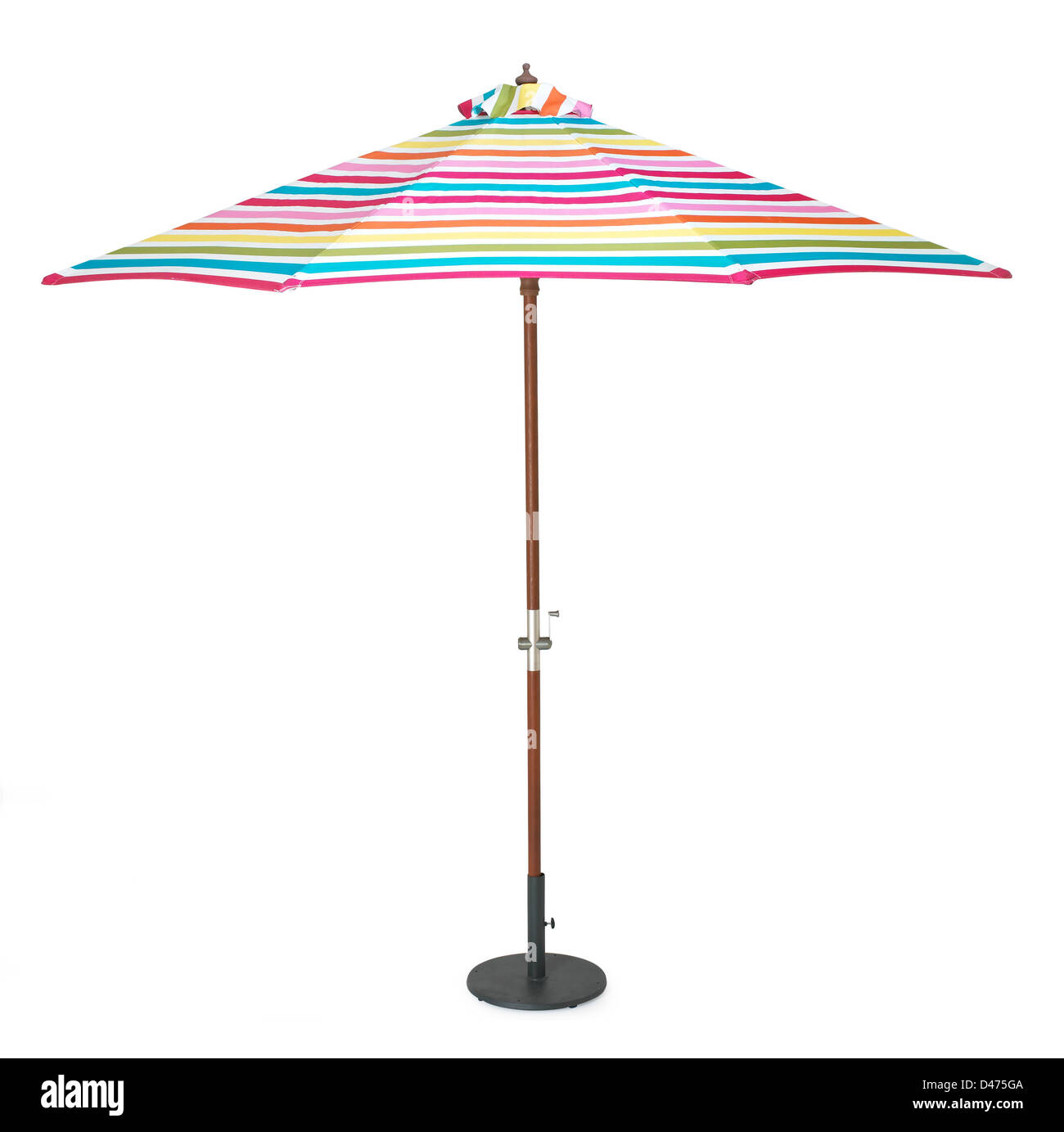 Colouful Umbrella Cut Out White Background