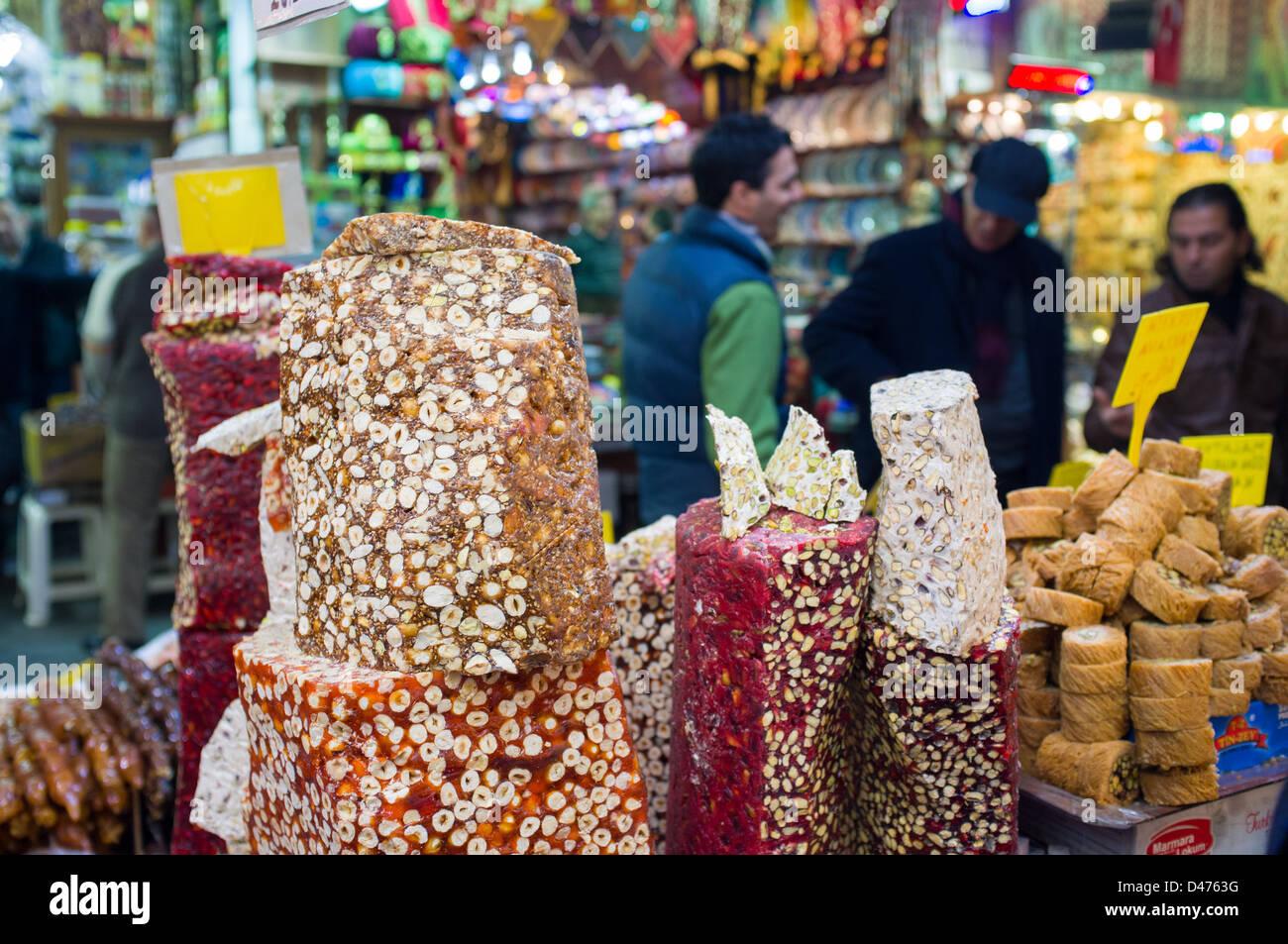 Egyptian Bazaar Istanbul, Turkey - Stock Image