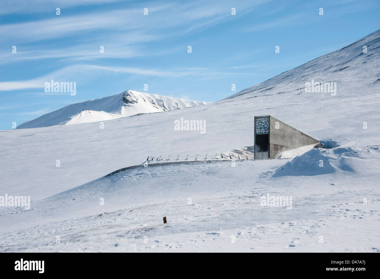 Entrance to the Svalbard Global Seed Vault Stock Photo