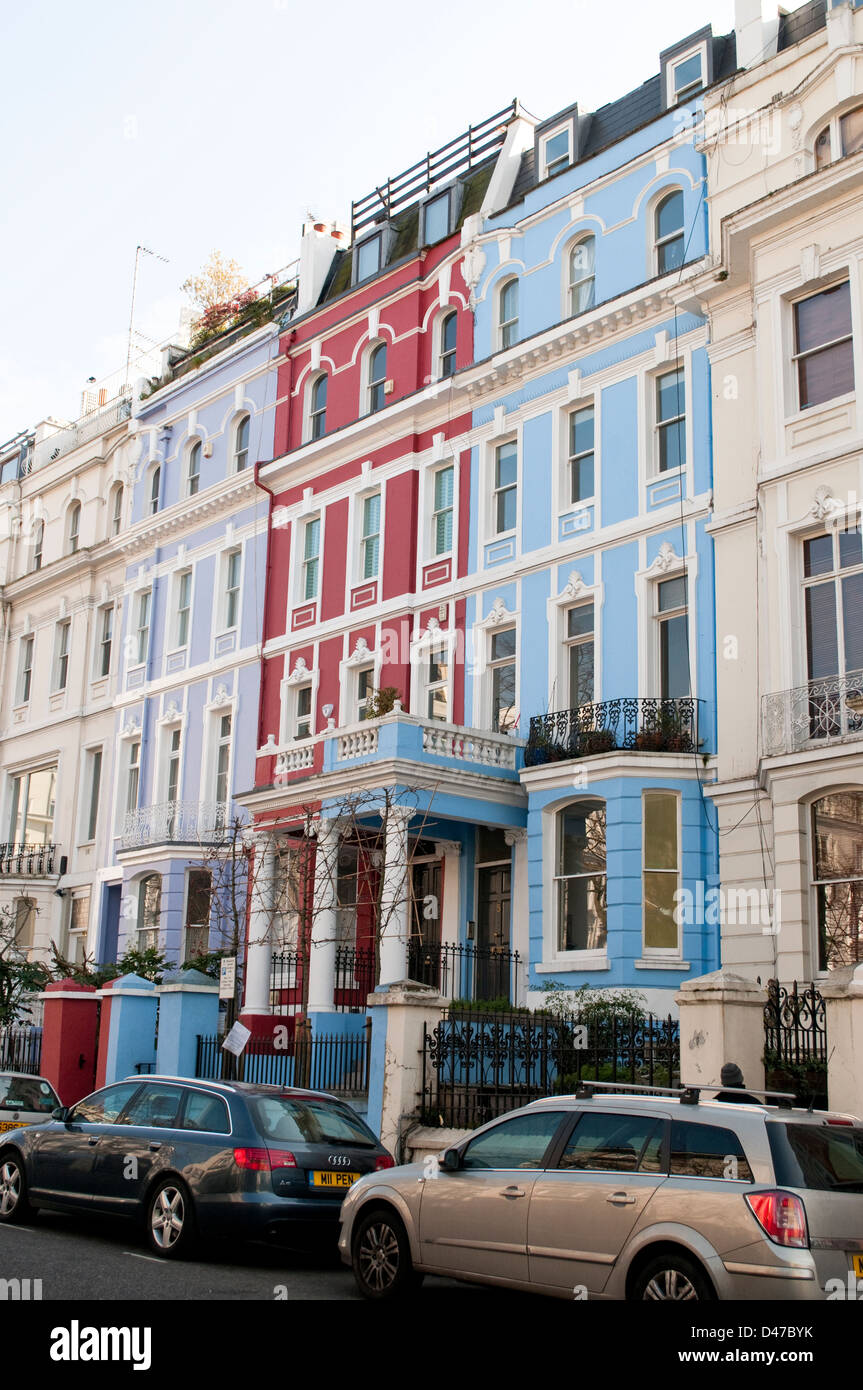 Notting Hill London: Notting Hill London Houses Colourful Stock Photos
