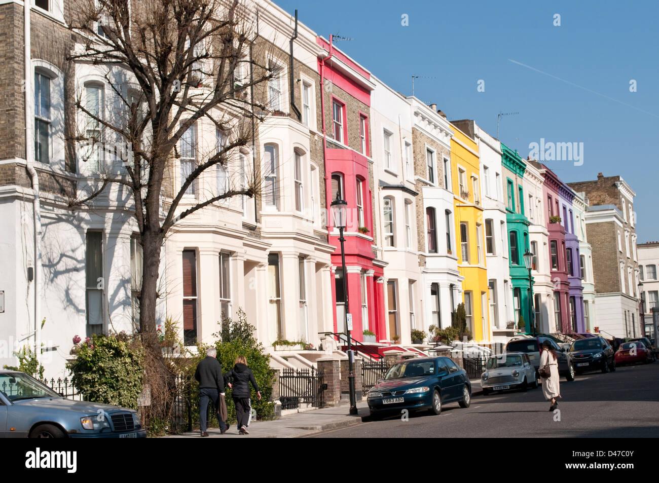 terraced houses lancaster road notting hill london w11 uk stock photo 54252827 alamy. Black Bedroom Furniture Sets. Home Design Ideas