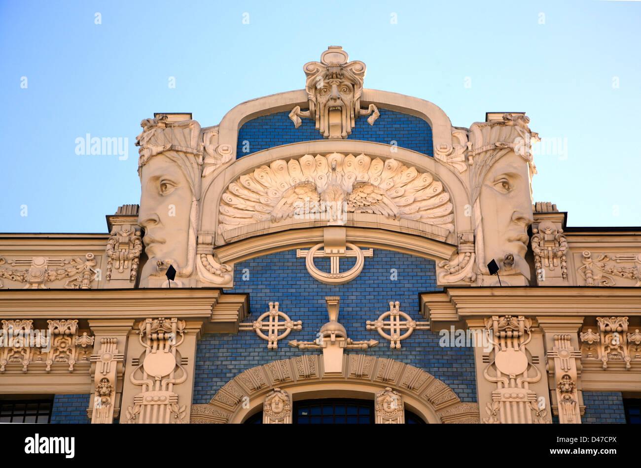 Art Nouveau in Elizabetes iela, Riga, Latvia - Stock Image
