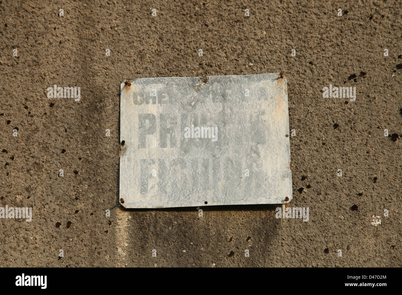 Worn out sign - Stock Image