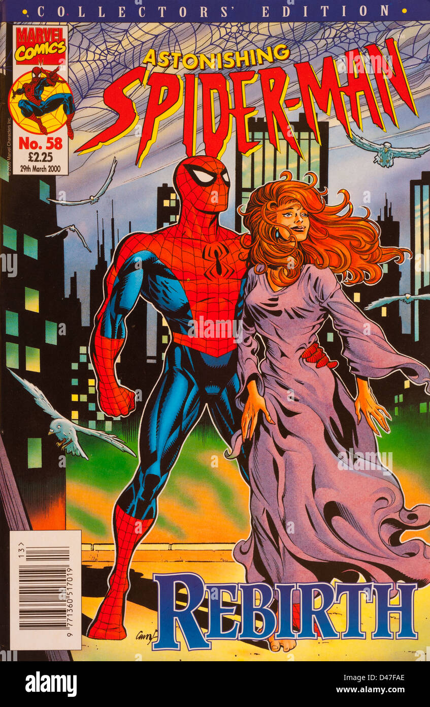 Astonishing Spider-Man, No.58, March 2000, published by Marvel Comics - Stock Image
