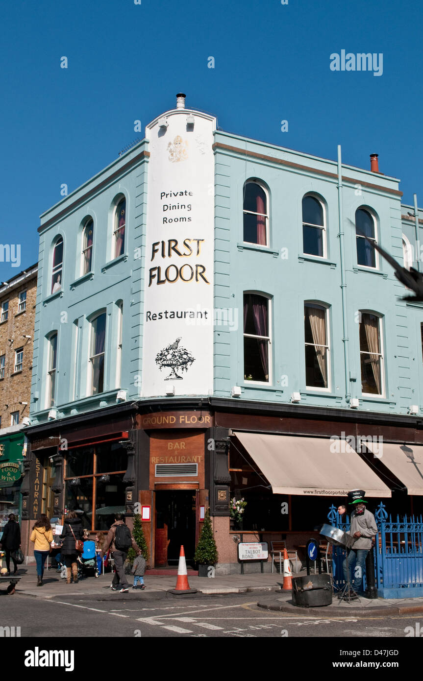 First Floor restaurant, Portobello Road, Notting Hill, London, W11, UK - Stock Image
