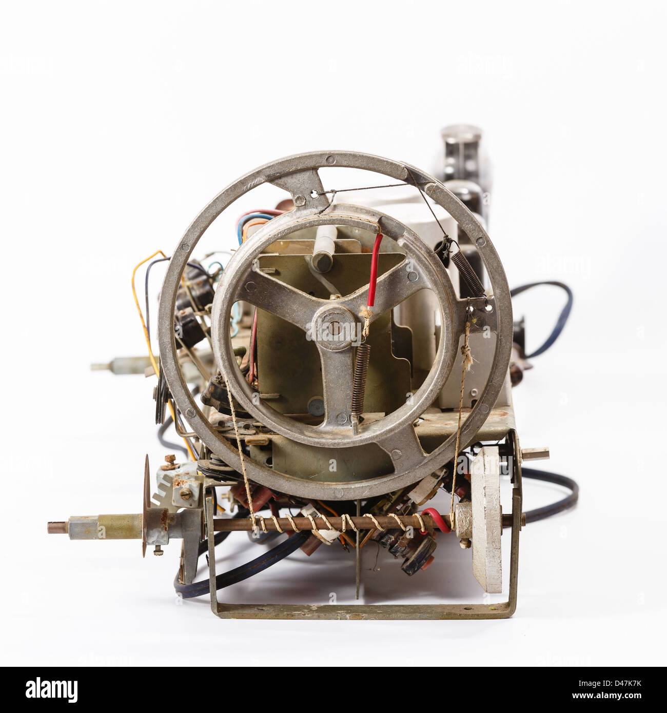 device of tuning of an old lamp radio receiver - Stock Image