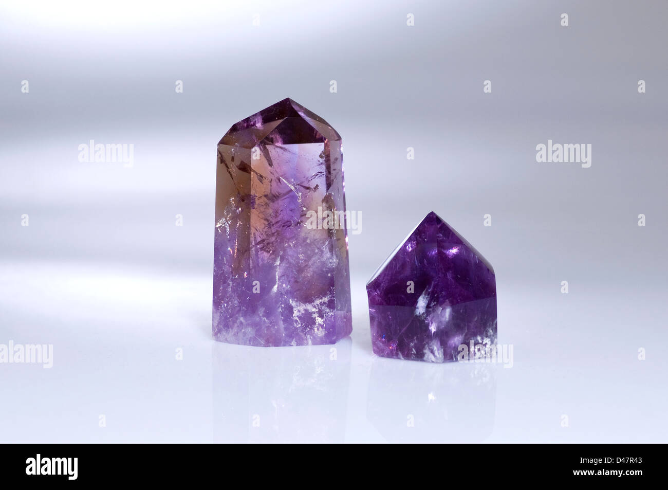 Two Amethyst Menhirs - Stock Image