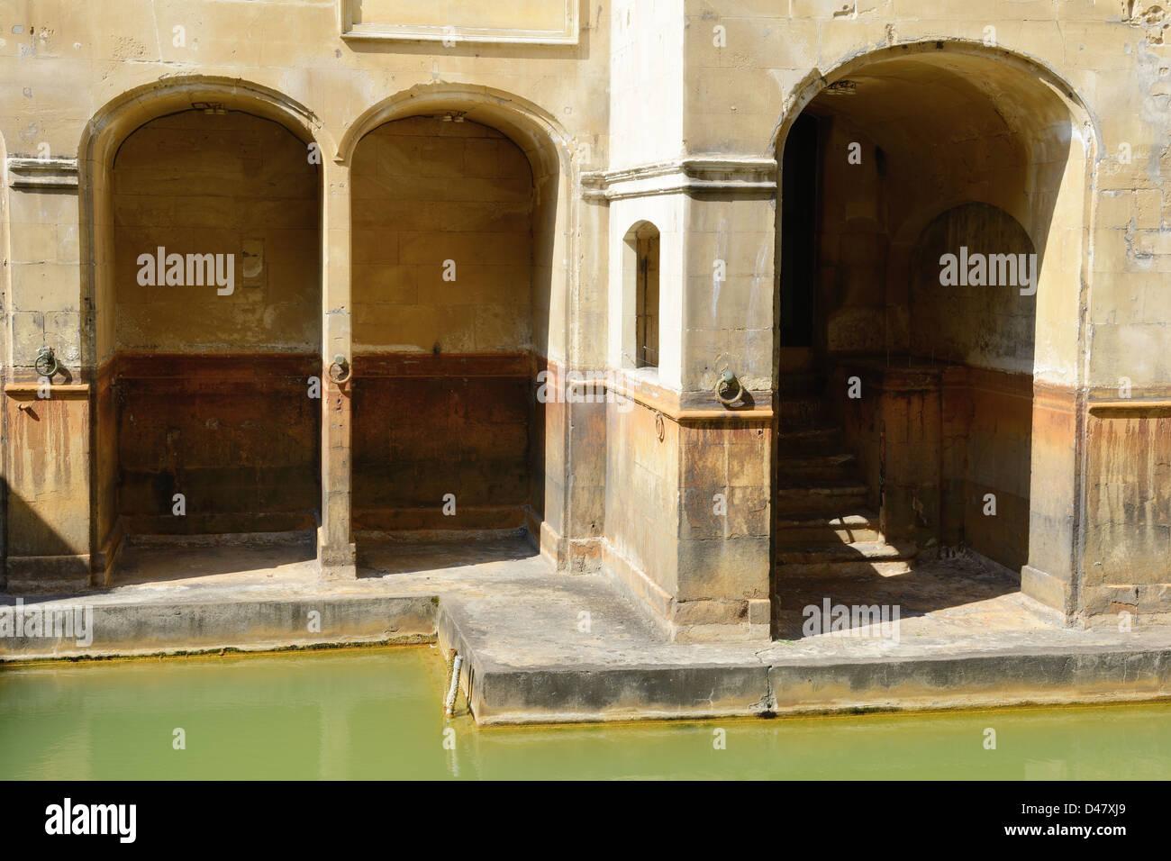 The Roman Baths - Bath, England - Stock Image