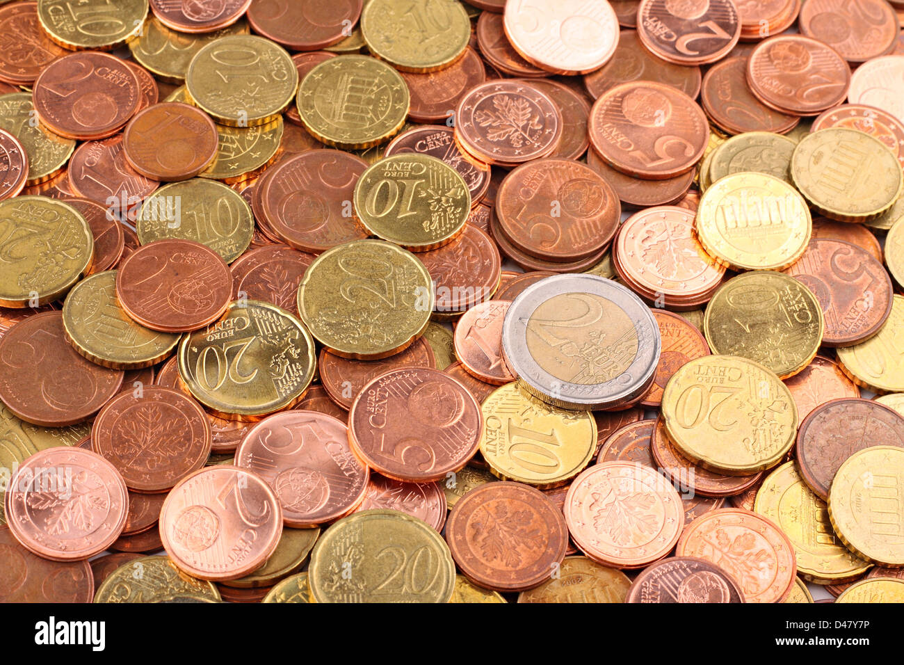 A lot of EURO coins - Stock Image