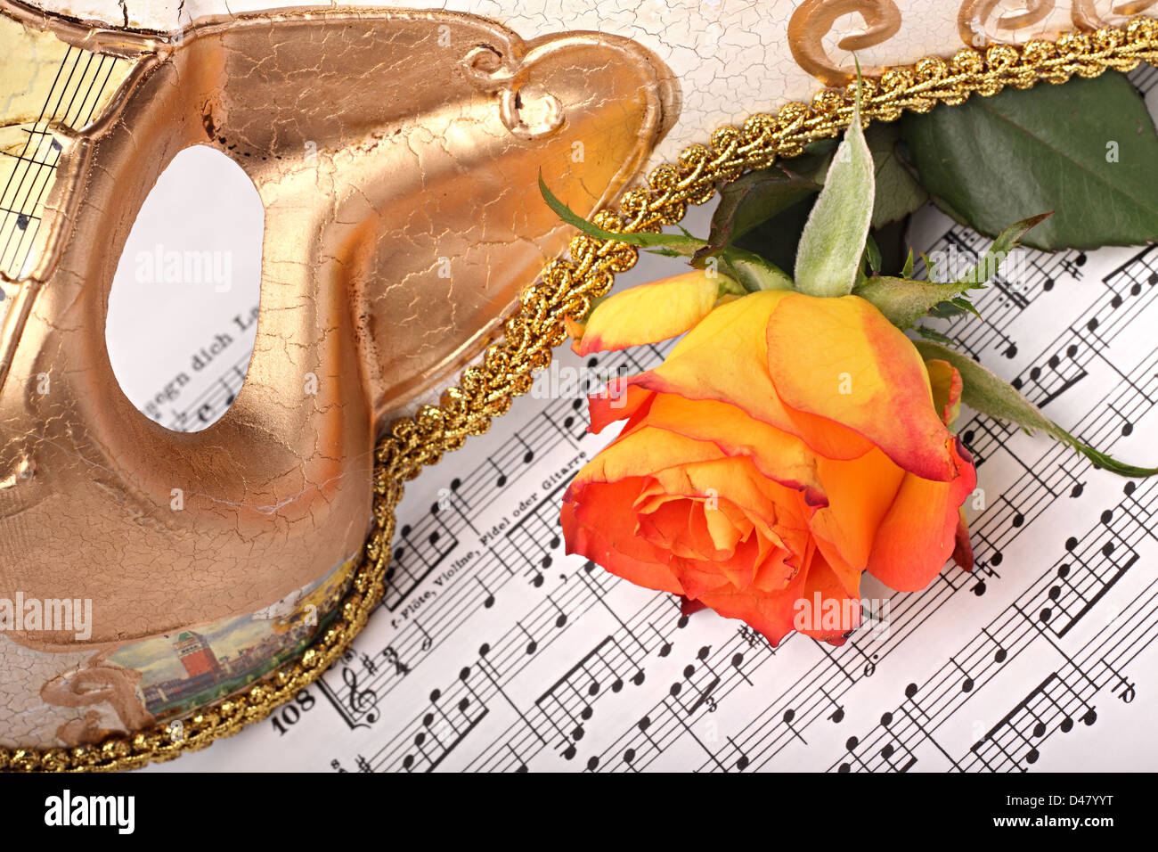 carnival mask on music sheets stock photo 54265340 alamy