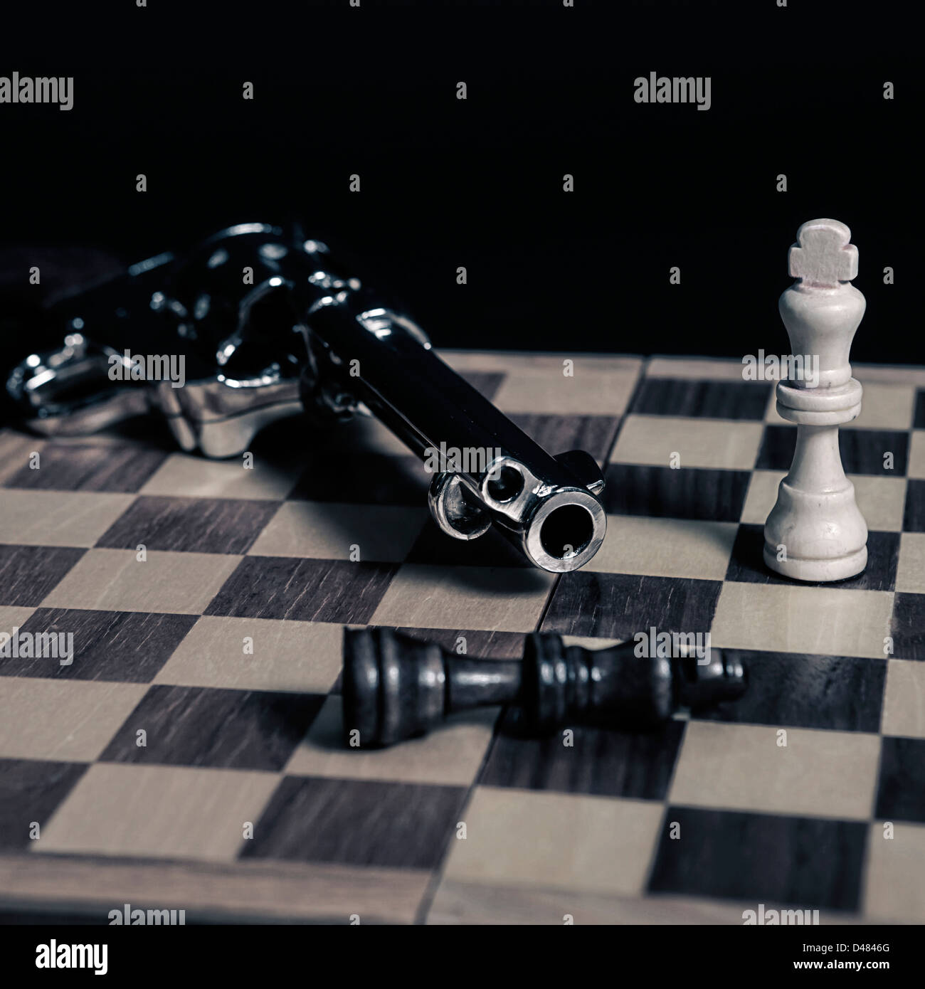 the black king was shot - Stock Image