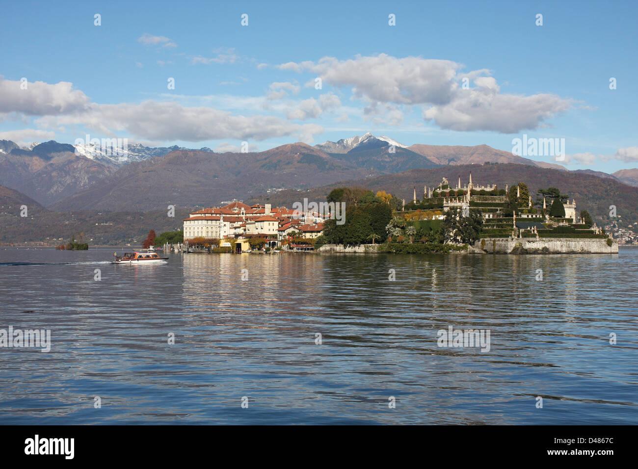 Italy, Lake Maggiore, Bella Island (Isola Bella) - Stock Image