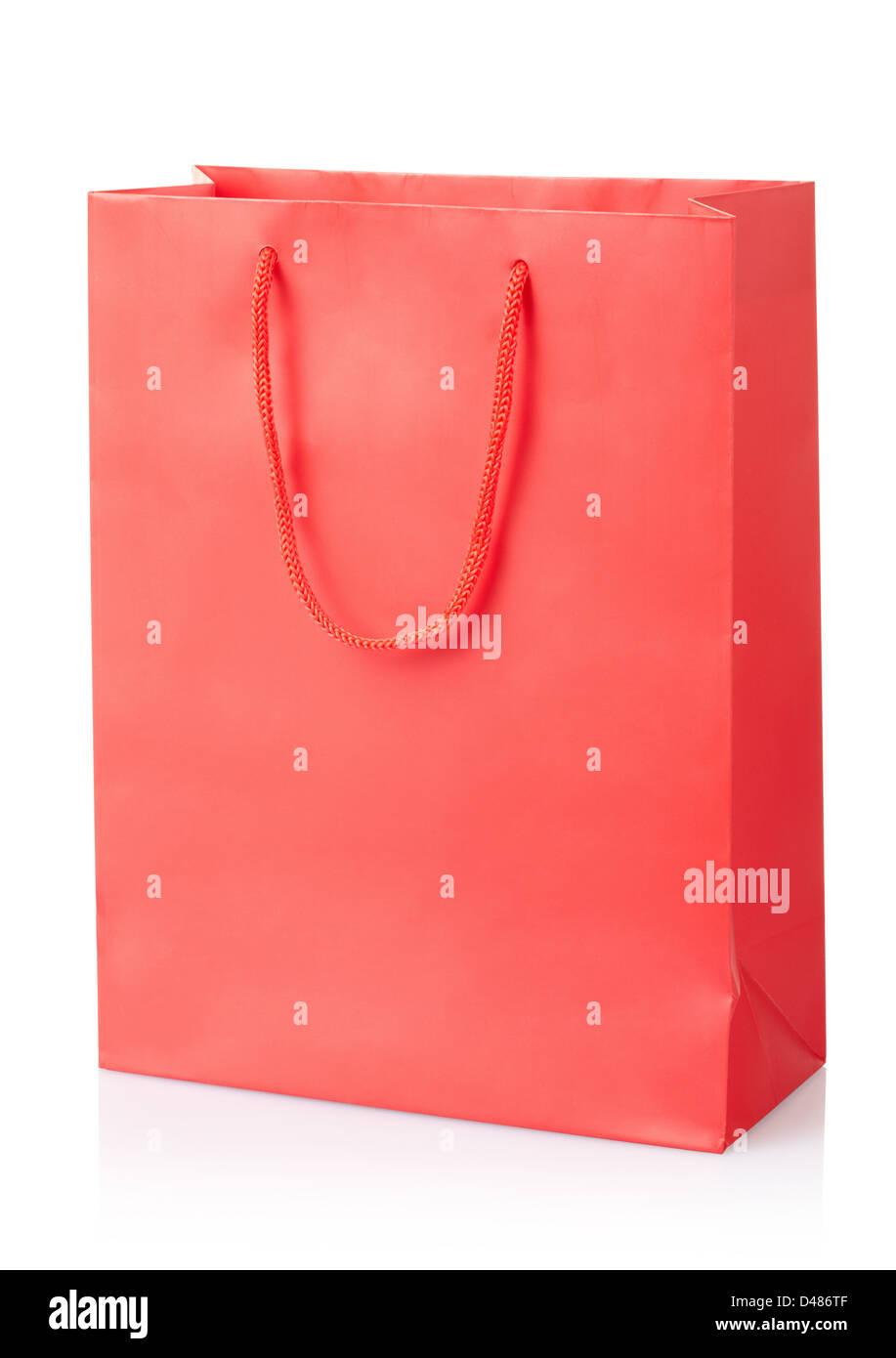 Red shopping bag - Stock Image