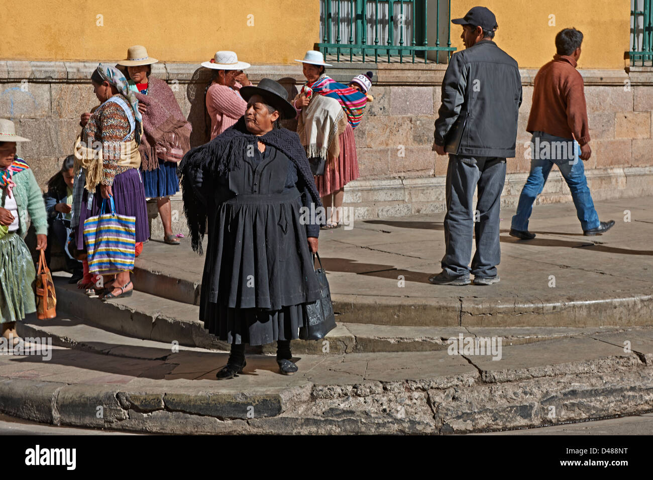 Indigena or locals in Potosi, Bolivia, South America - Stock Image