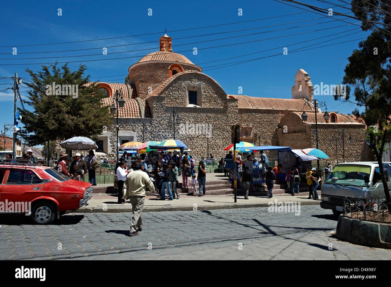 church San Bernardo, Potosi, Bolivia, South America - Stock Image