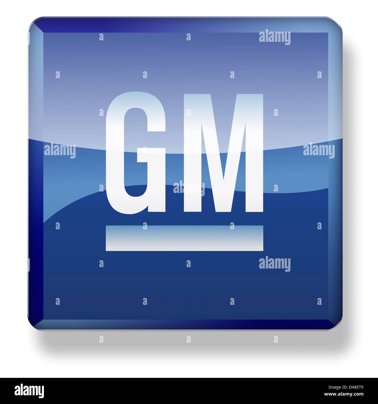 General Motors logo as an app icon. Clipping path included. - Stock Image