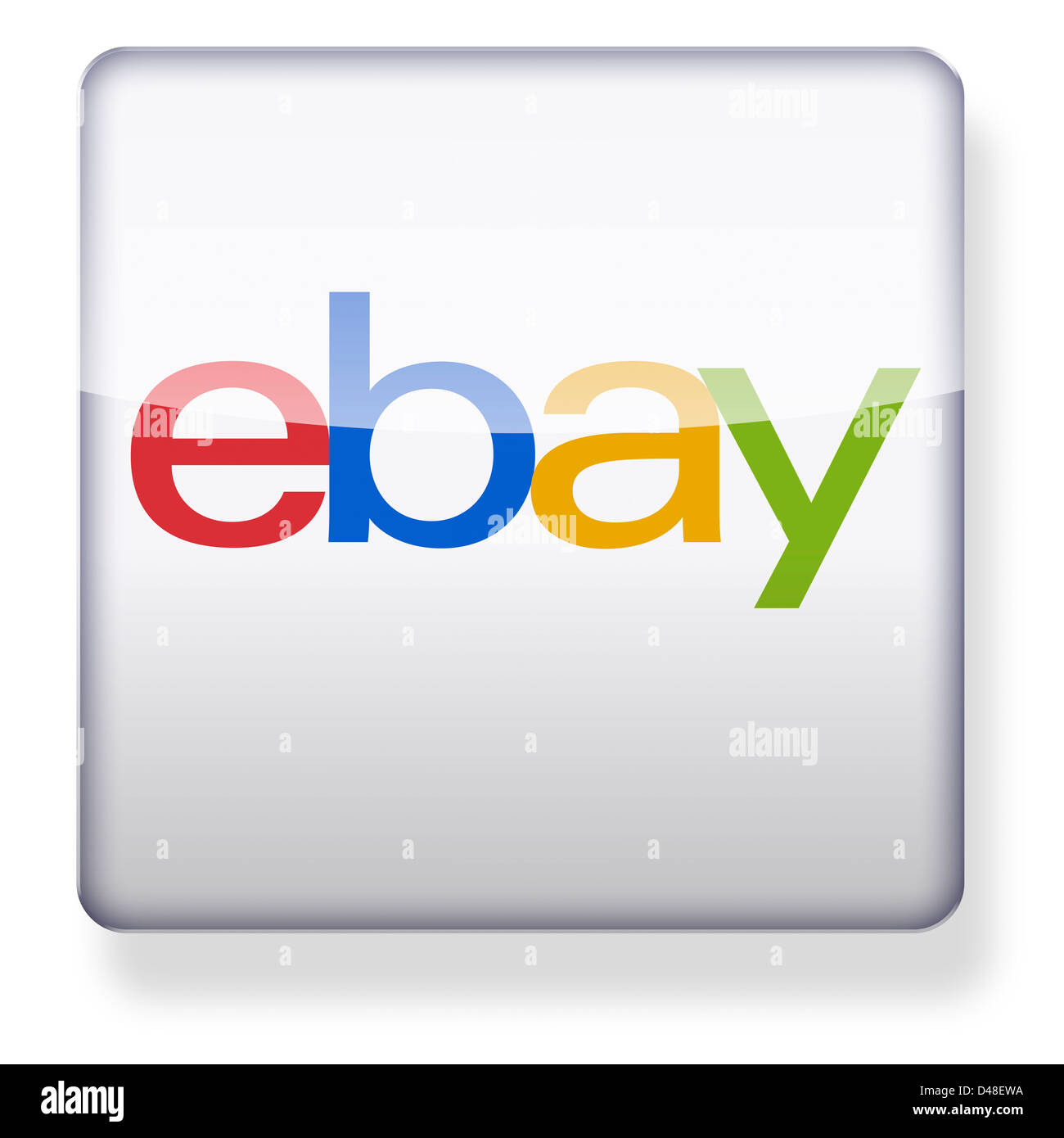 Ebay Logo As An App Icon Clipping Path Included Stock Photo Alamy