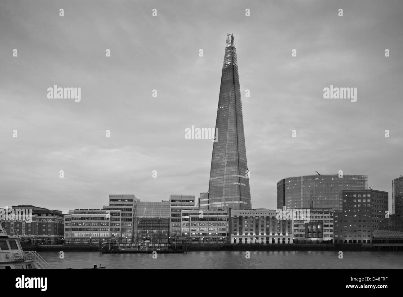 The Shard and River Thames, London, England - Stock Image