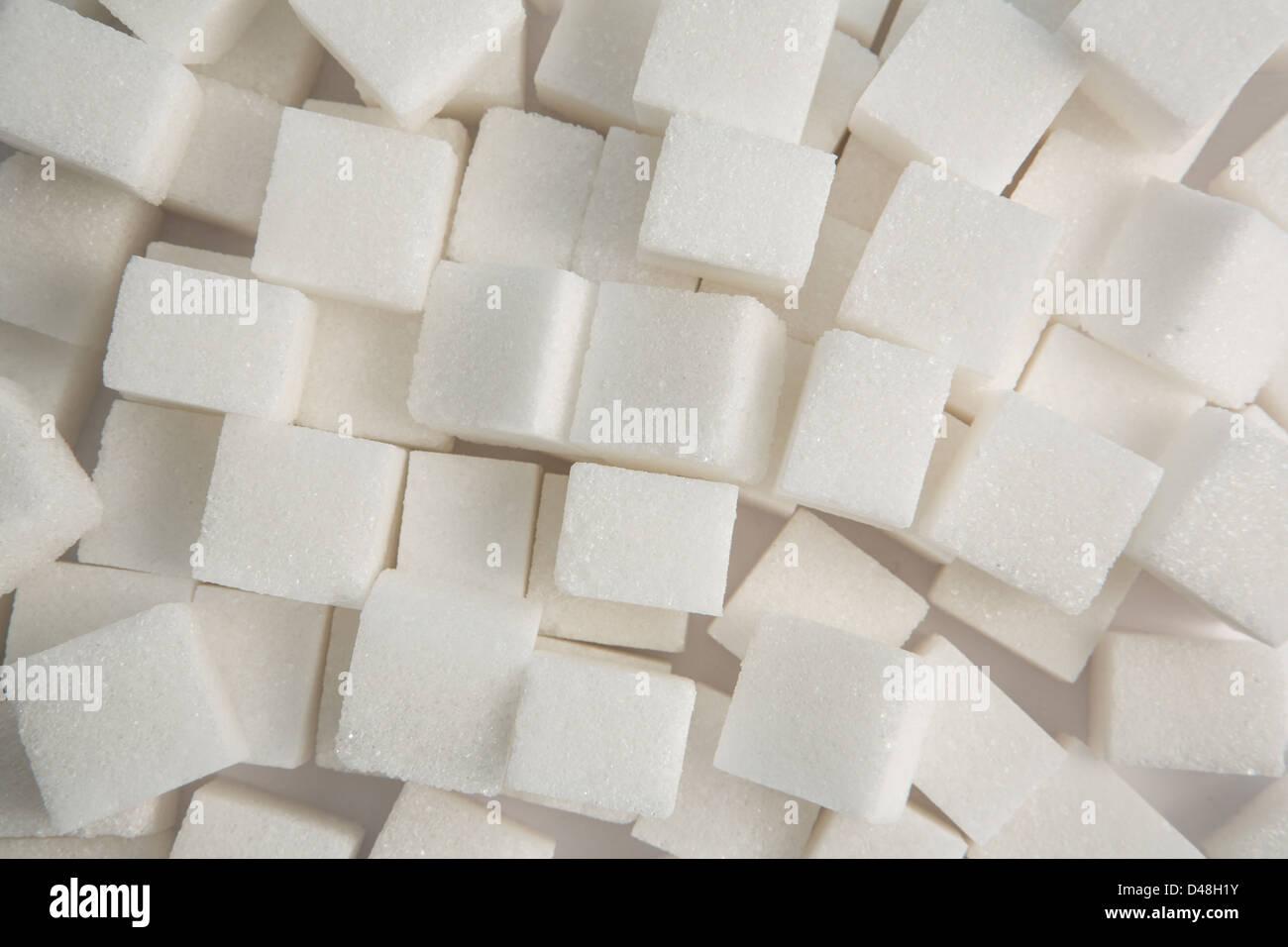 Sugar lumps - Stock Image