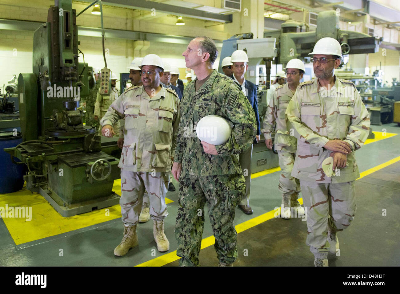 CNO Adm. Greenert tours King Abdulaziz Naval Base. - Stock Image