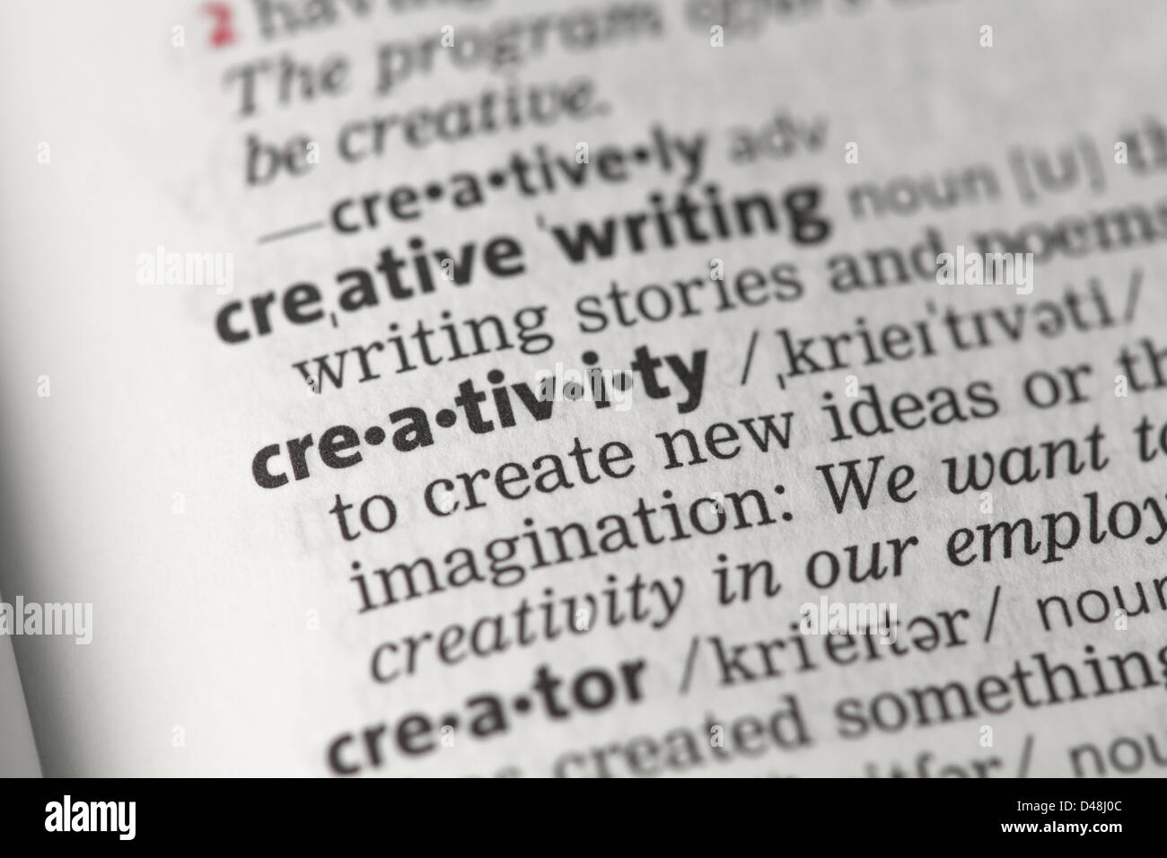 what is the definition of creative writing