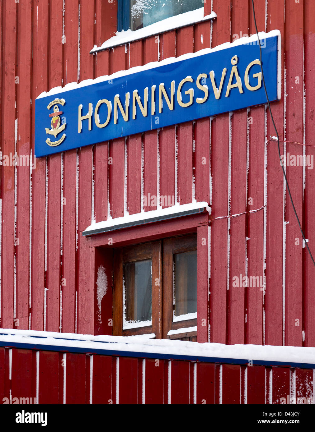 Honningsvag, the northernmost city in mainland Norway - Stock Image