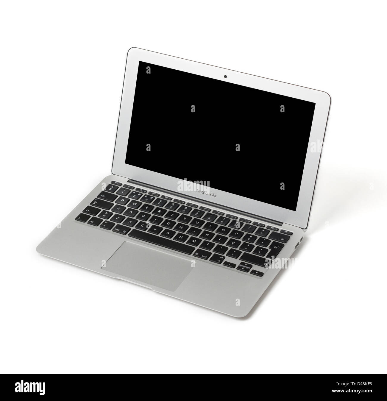Apple MacBook Air 11' cut out isolated on white background - Stock Image