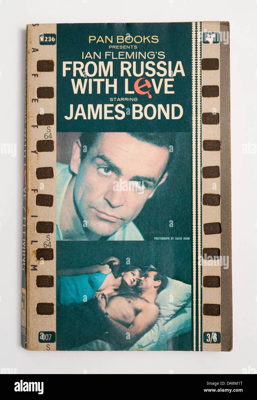'From Russia With Love' James Bond novel written by Ian Fleming - Stock Image