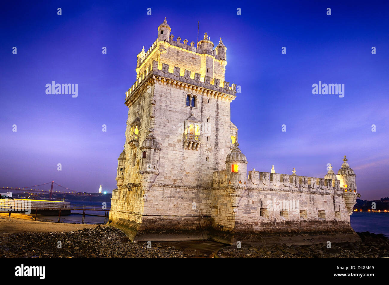 Belem tower in Lisbon city, Portugal Stock Photo