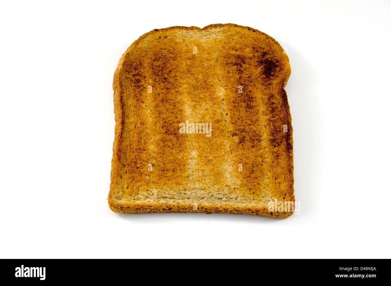 single slice of toast on white background stock photo 54281538 alamy