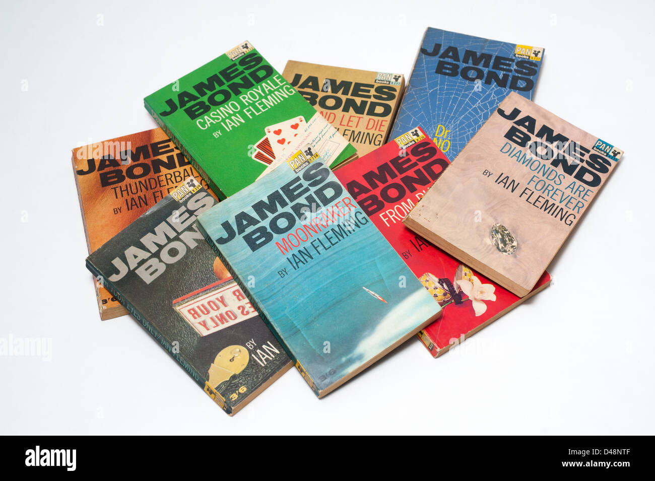 James Bond books written by Ian Fleming - Stock Image