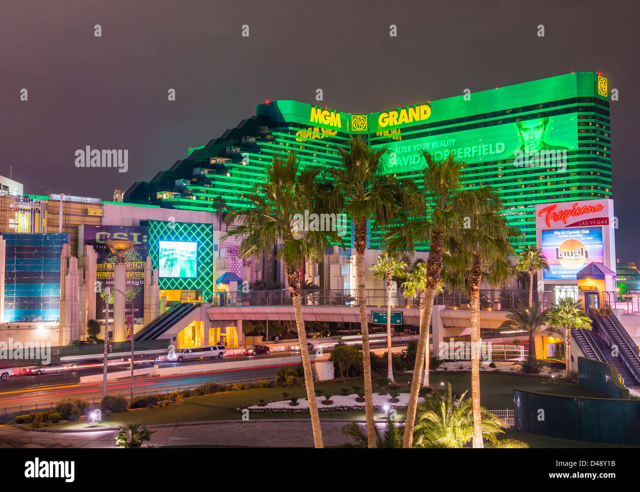 MGM hotel and casino in Las Vegas. - Stock Image