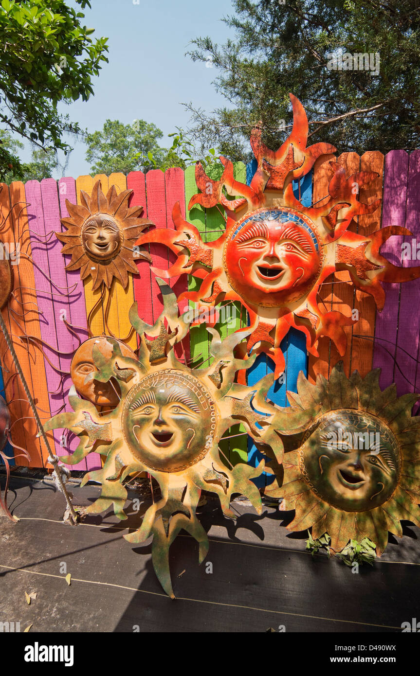 A cornucopia of yard art and kitsch from around the world at Barberville, Florida. - Stock Image