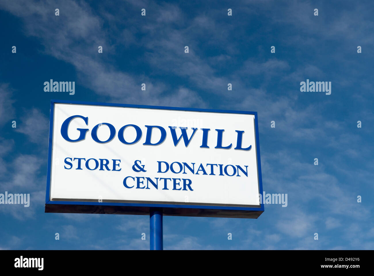 Goodwill sign Lancaster, SC,  USA - Stock Image