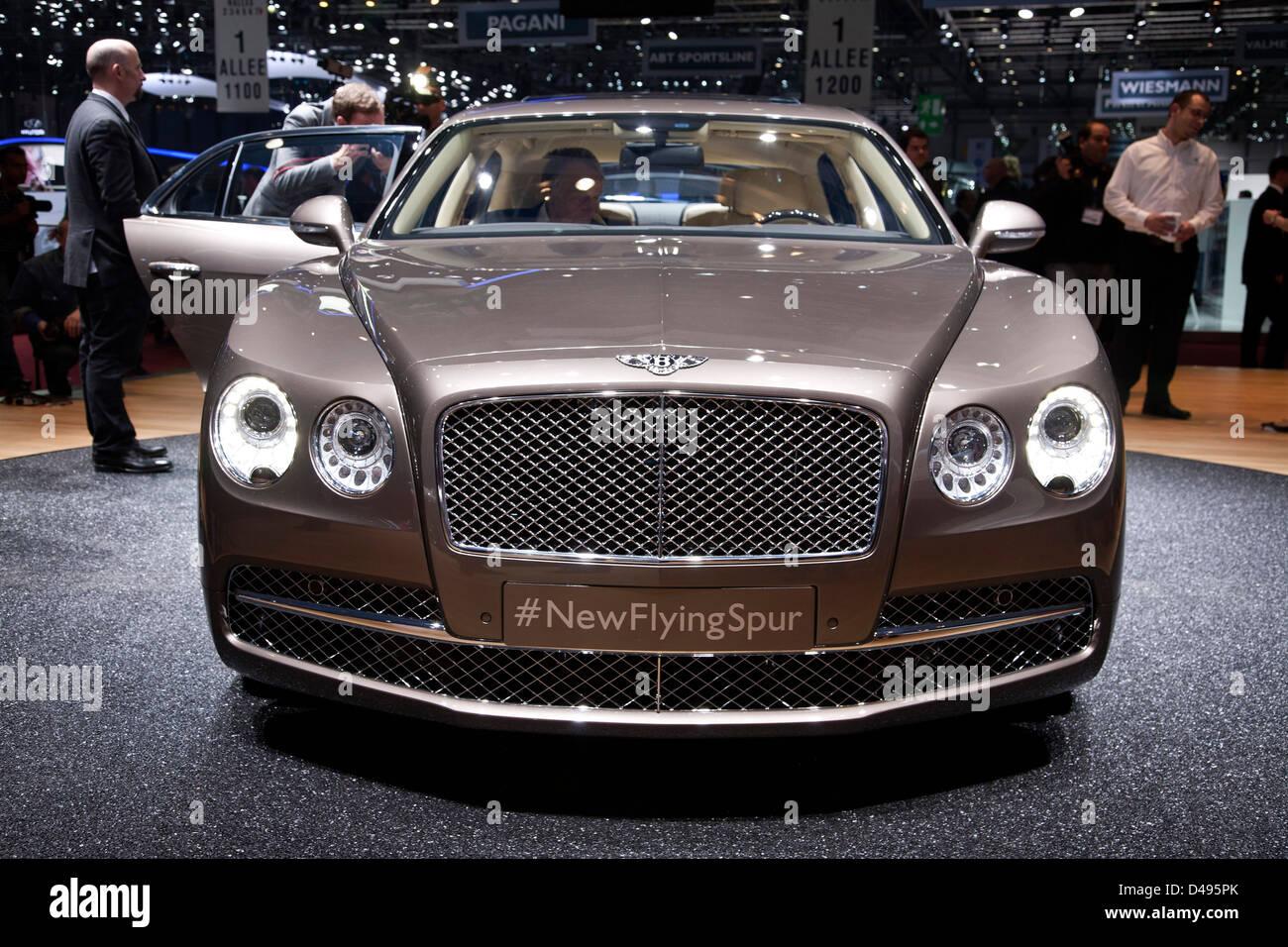 Bentley Flying Spur. Geneva Motor Show 2013 - Stock Image