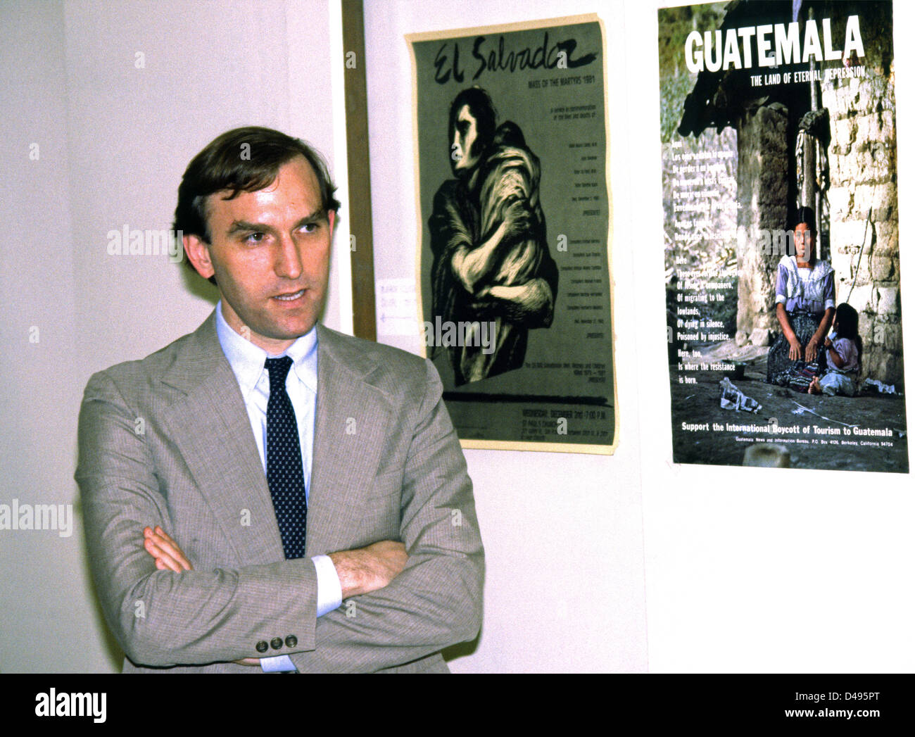 Elliot Abrams Under Secretary of State for Human Rights 1982 - Stock Image