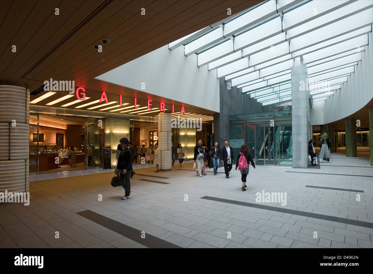 Galleria shopping mall entrance at new Tokyo Midtown, a mixed-use shopping, hotel and residential complex in Roppongi, - Stock Image