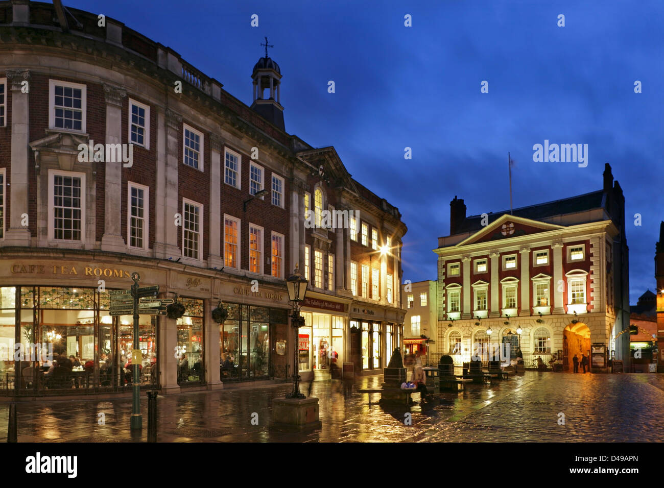 Betty's Tearooms and the Mansion House, St Helen's Square, York, Yorkshire, United Kingdom. Stock Photo