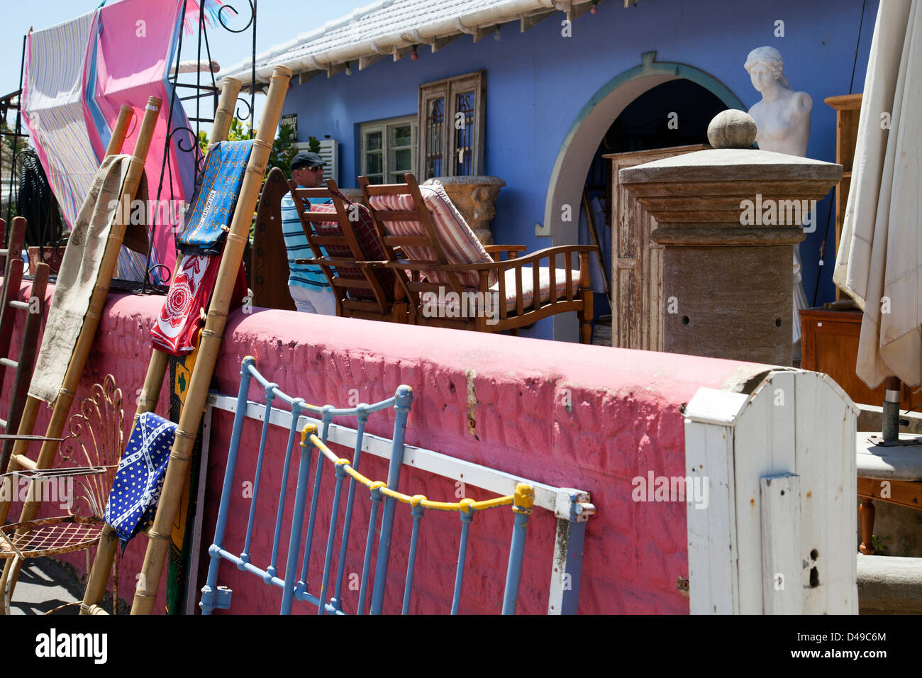 Kalk Bay Store with Goods on Patio along Main Road - Western Cape - South Africa - Stock Image