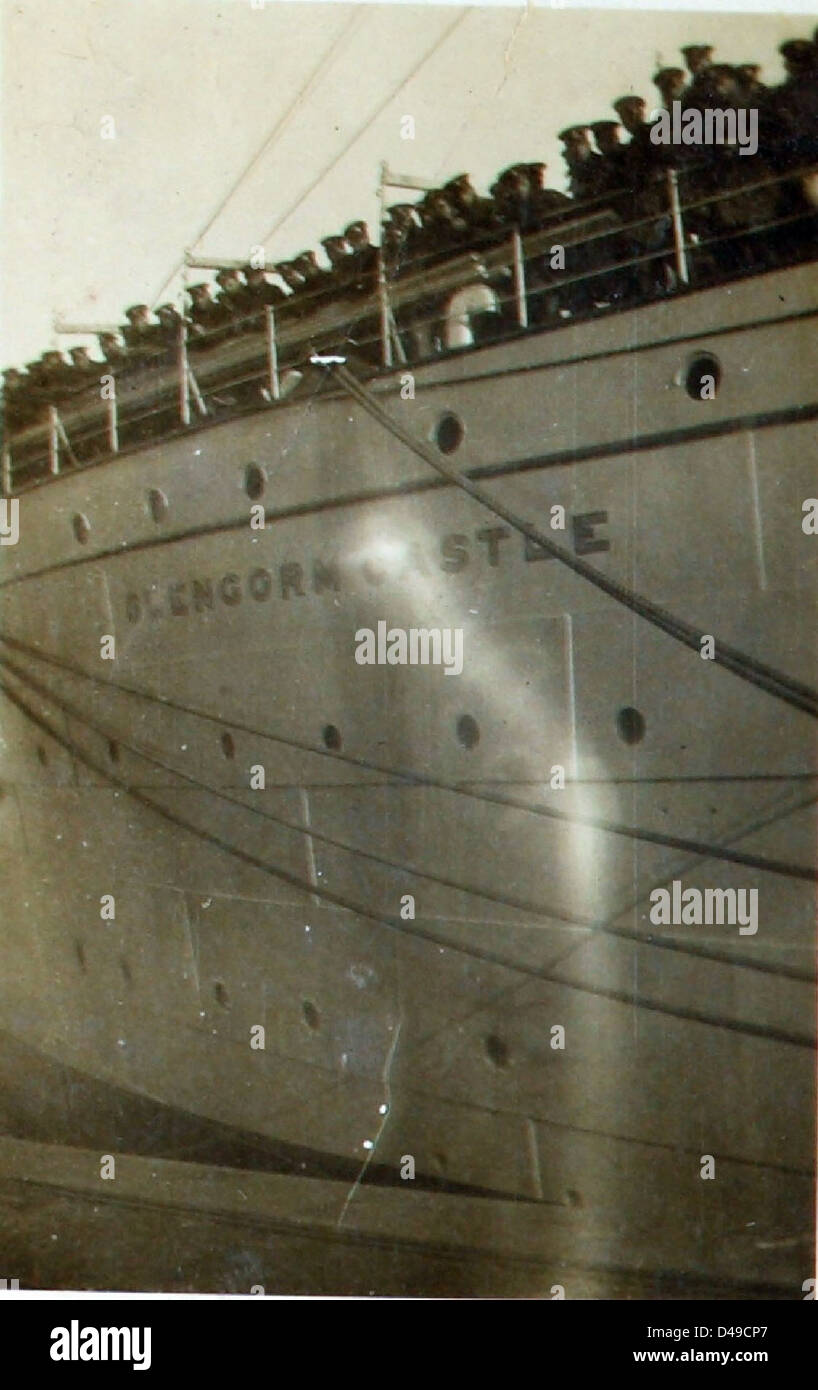 """""""""""H.M.T. Glengorm Castle"""""""": Casting off Stock Photo"""