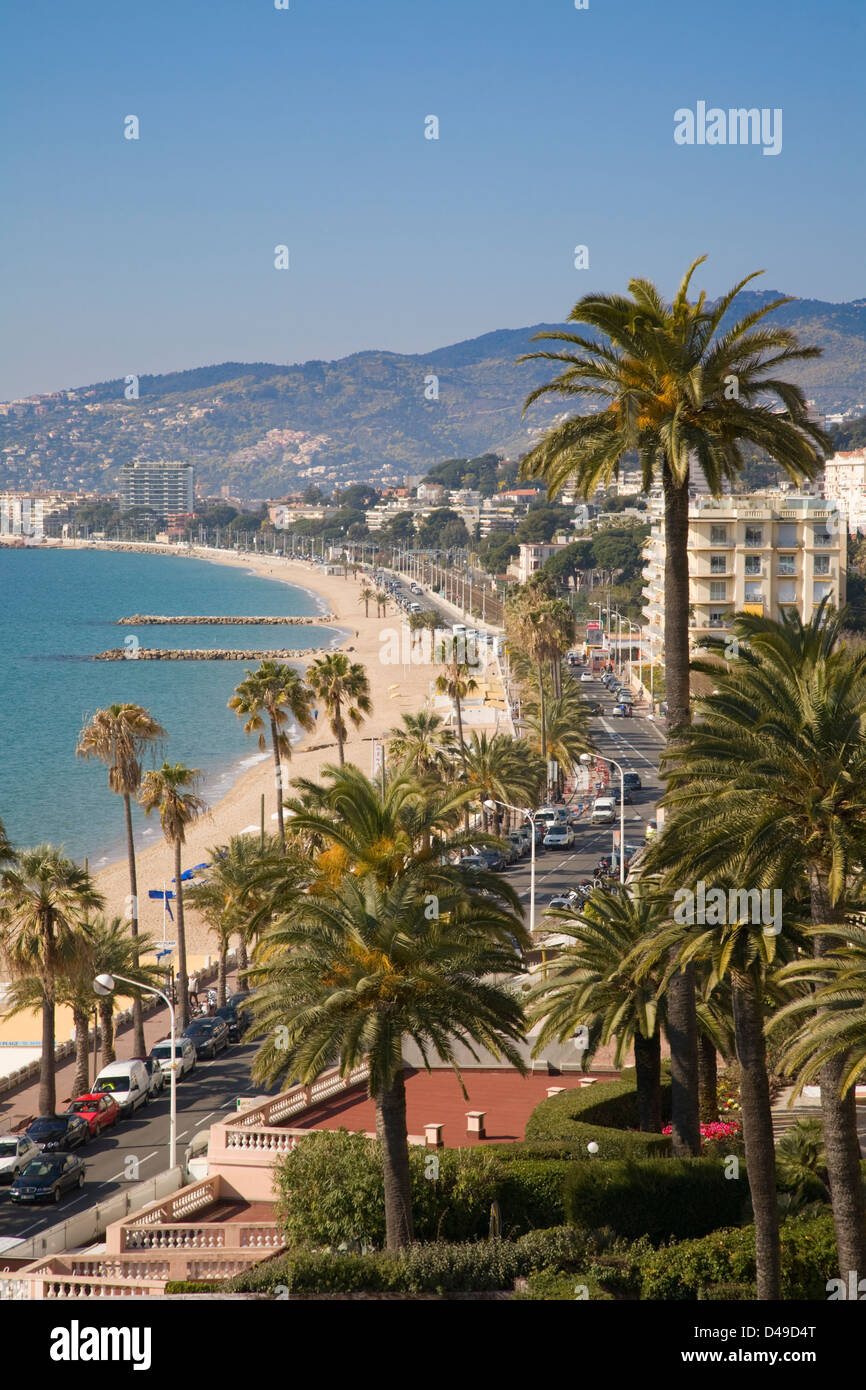 Midi Plage beach, Cannes, France - Stock Image