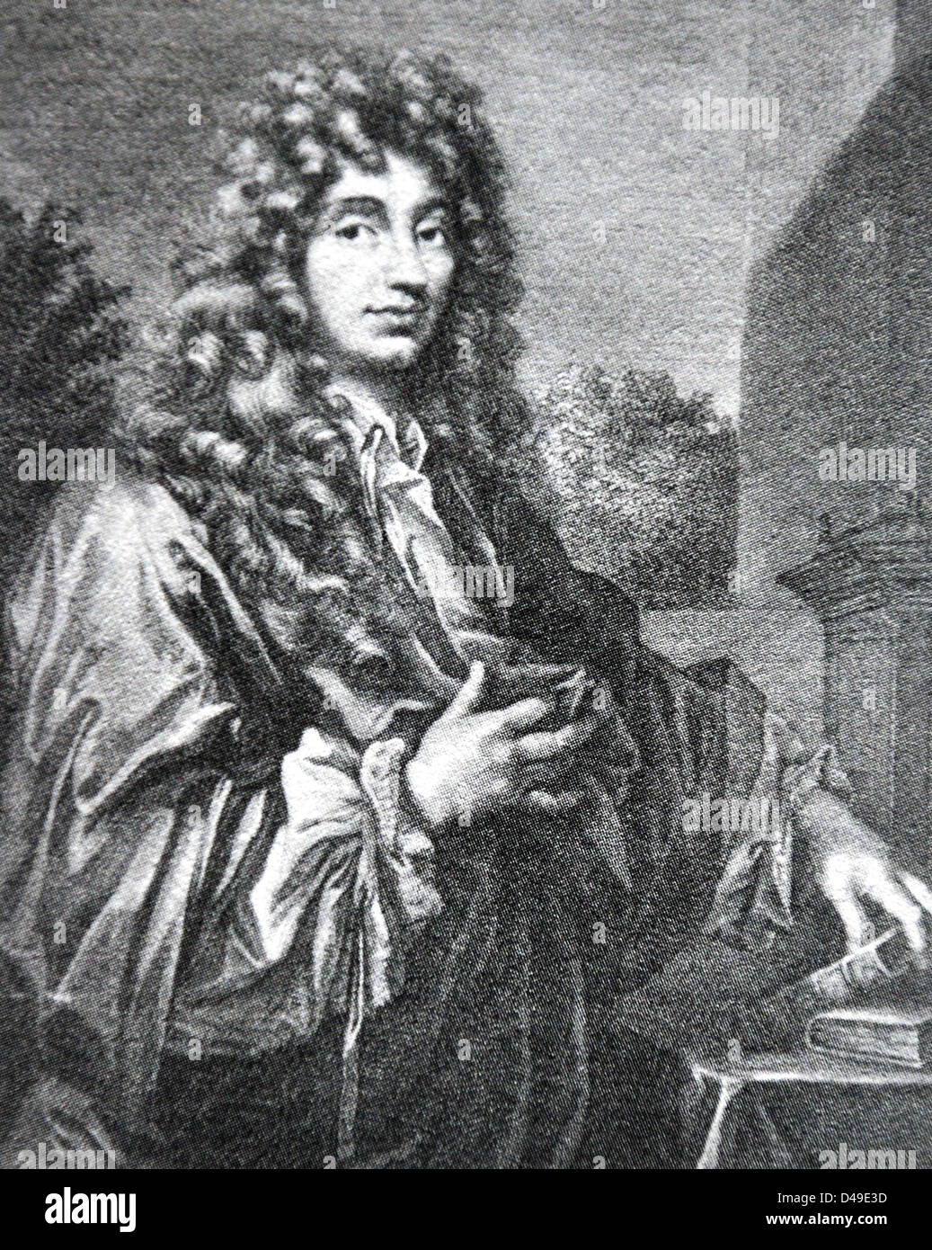 Christiaan Huygens, Dutch mathematician, astronomer, physicist and horologist - Stock Image