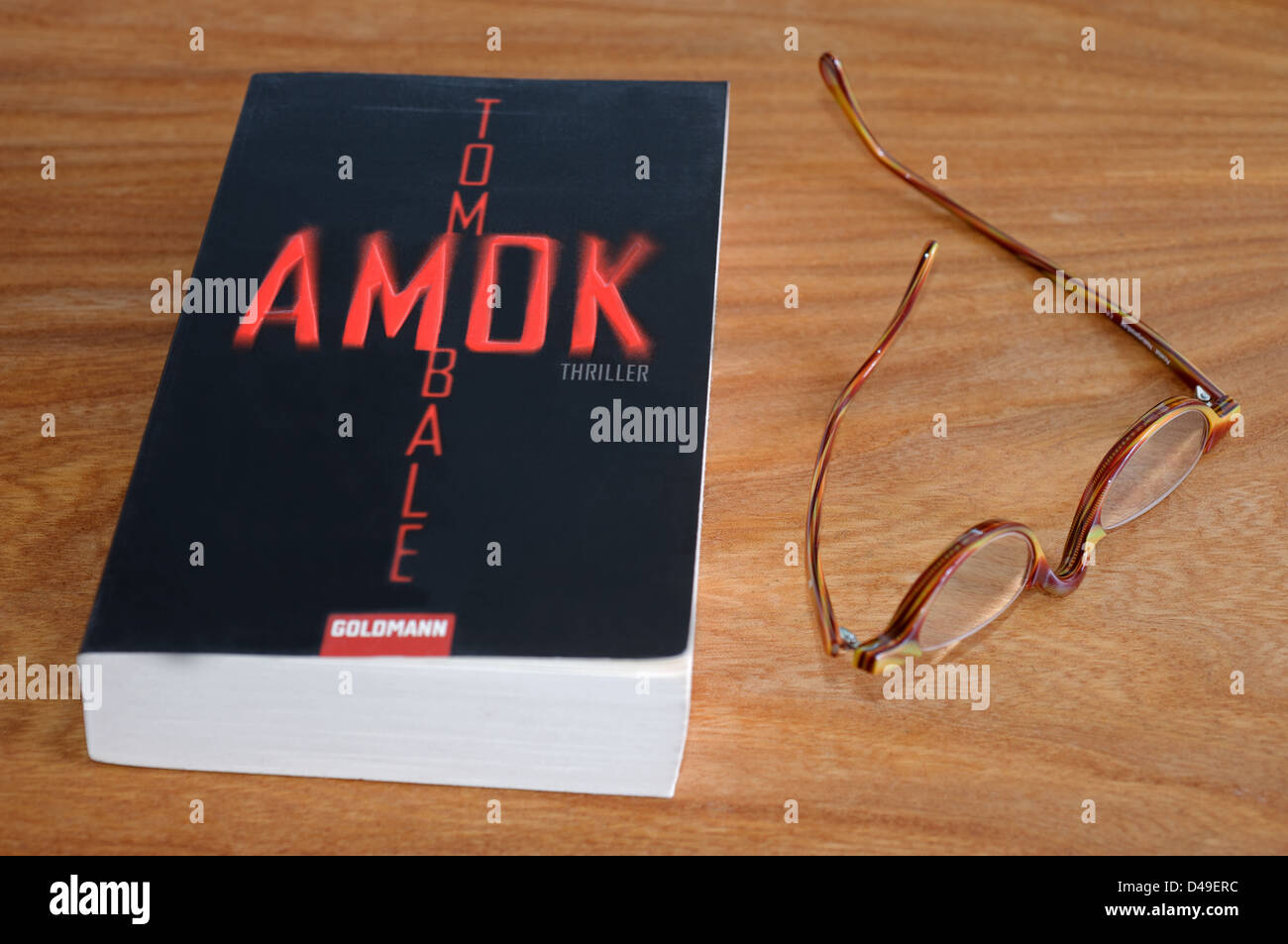 Tom Bale thriller AMOK published in Germany by Goldmann - Stock Image