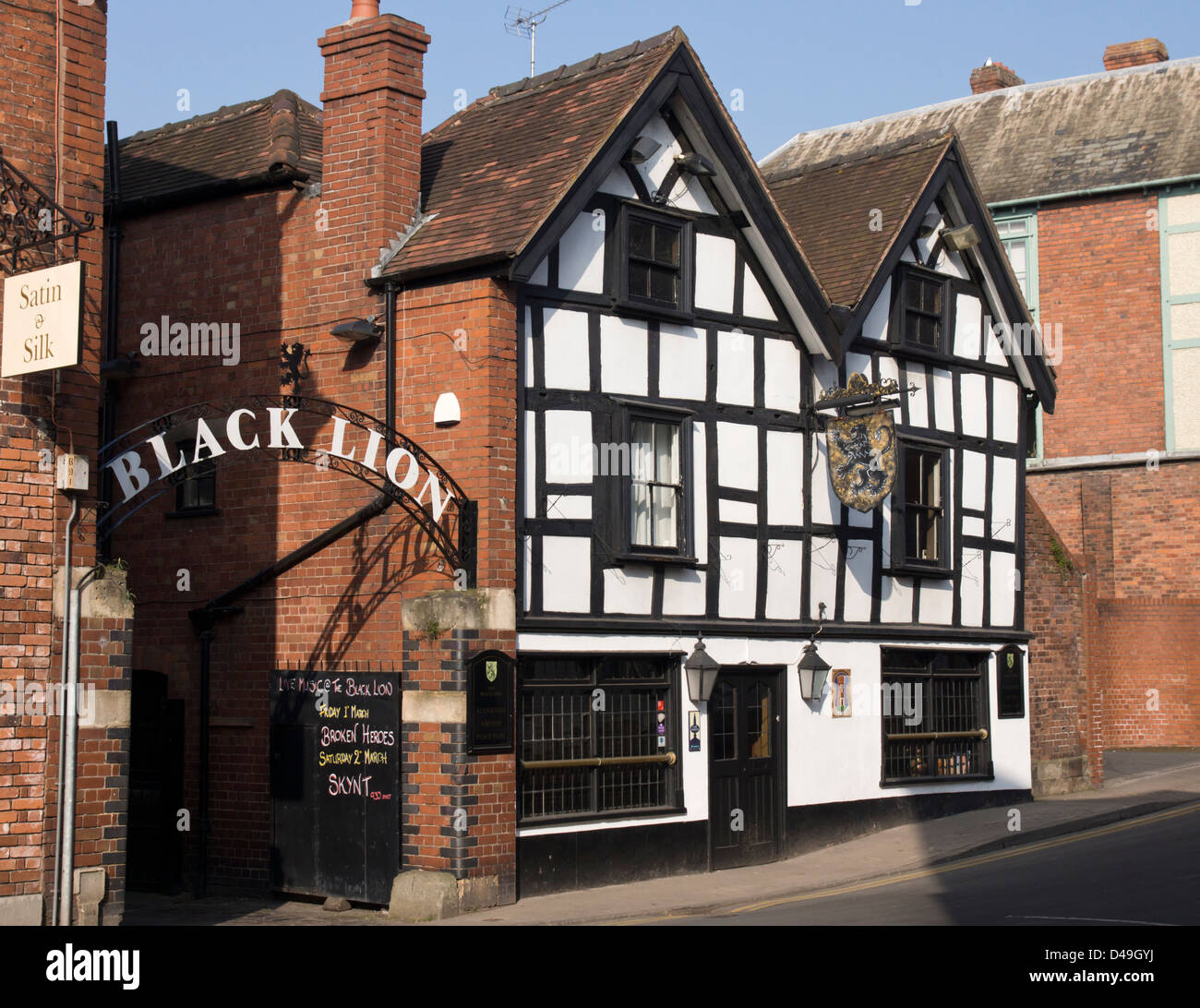 Hereford, The Black Lion Pub - Stock Image