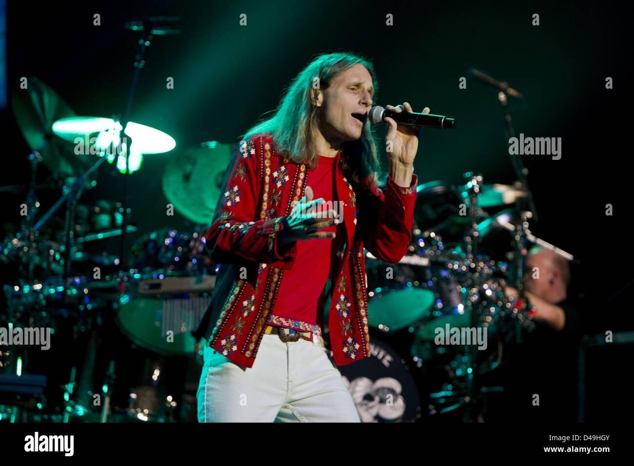 March 8, 2013 - Temecula, CA, USA - Vocalist JON DAVISON performs