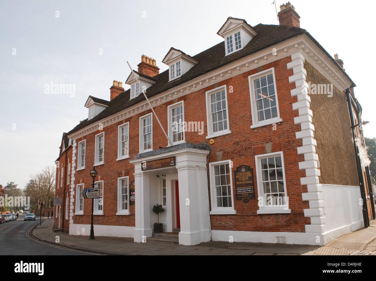 Stratford Preparatory school in Stratford Upon Avon - Stock Image