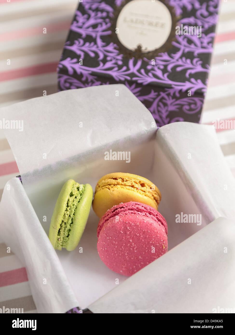 Box of Laduree Macaron - Stock Image