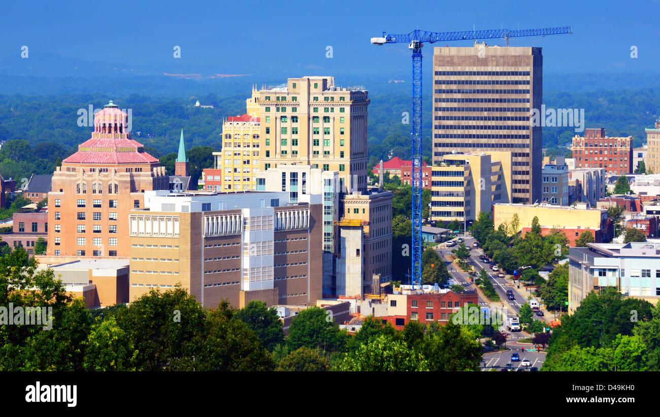 Downtown Asheville, North Carolina - Stock Image